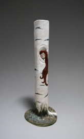 Woman in the Tree- birch tree